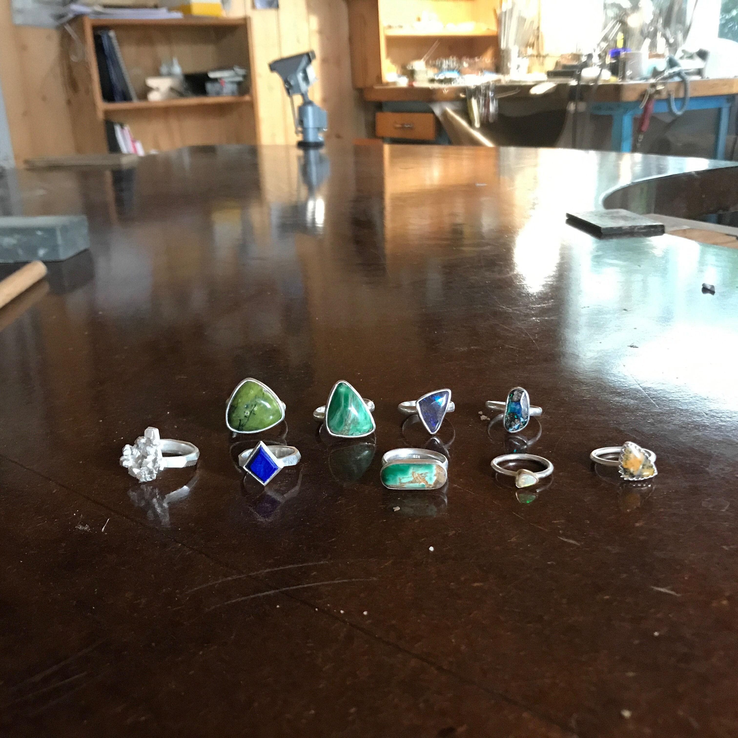 New stone set rings
